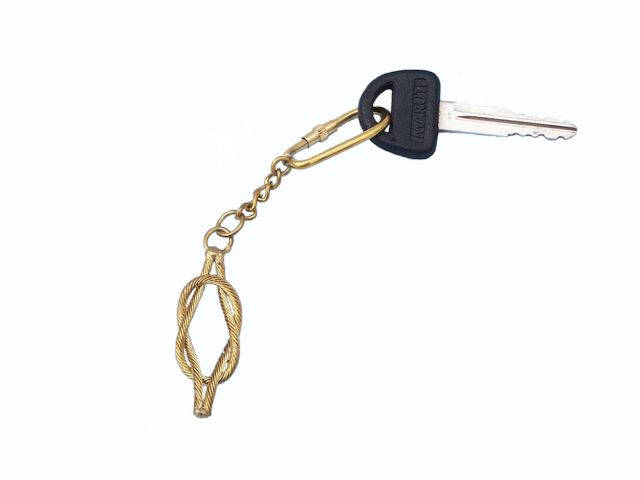 Brass Knot Key Chain 5