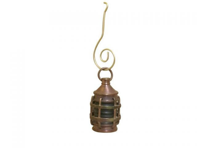 Antique Copper Anchor Green Lantern Christmas Ornament 4