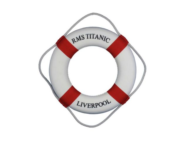 RMS Titanic Decorative Lifering 15 - Red