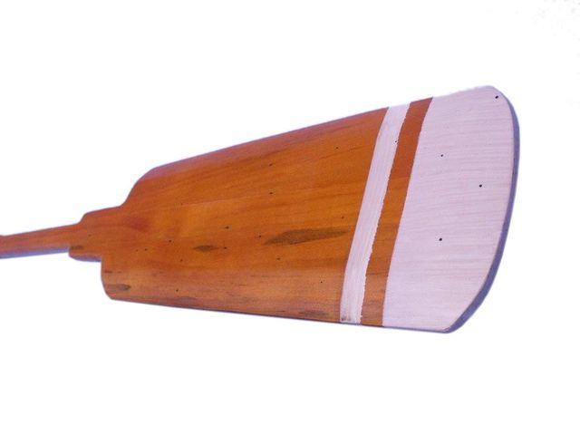 Wooden Westport Decorative Squared Rowing Boat Oar w- Hooks 36