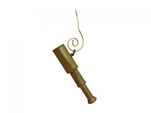 Antique Brass Telescope Christmas Ornament 5