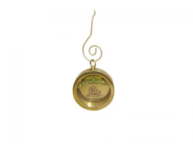 Solid Brass Clinometer Level Christmas Ornament 5