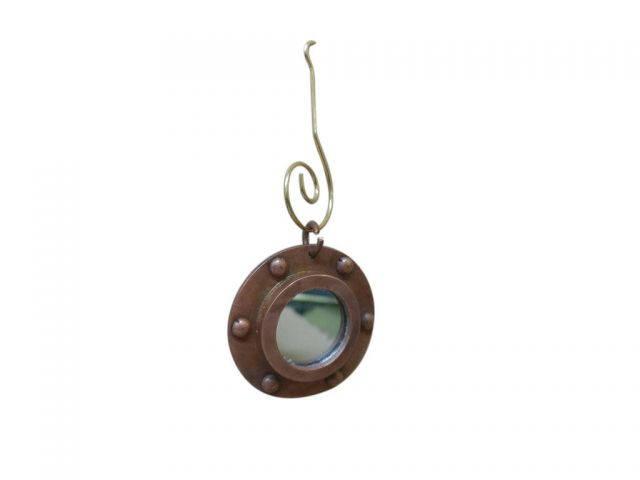 Antique Copper Porthole Christmas Ornament 4