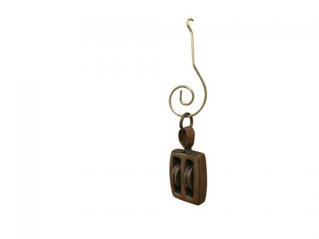 Antique Copper Pulley Christmas Ornament 4