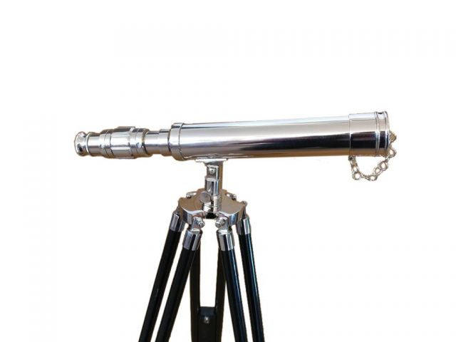 Standing Chrome Harbor Master Telescope 30