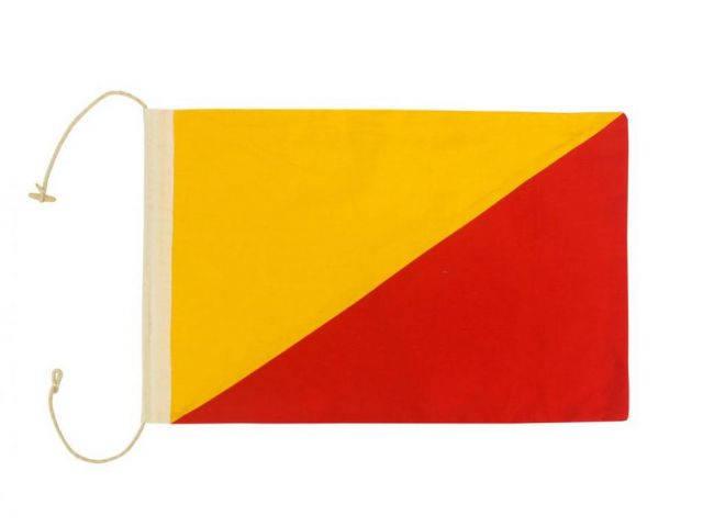 Letter O Cloth Nautical Alphabet Flag Decoration 20