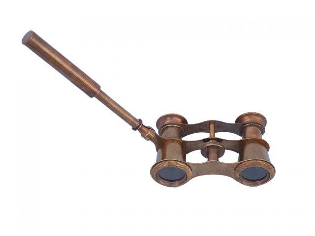 Scouts Antique Brass Binocular With Handle 4