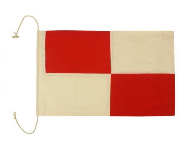 Letter U Cloth Nautical Alphabet Flag Decoration 20