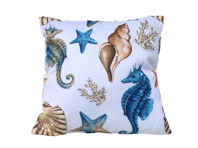 Decorative Coastal Coral Throw Pillow 16