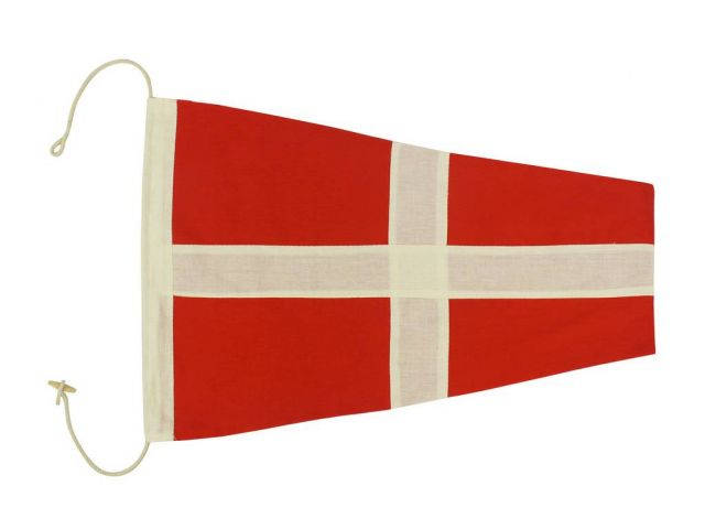 Number 4 - Nautical Cloth Signal Pennant Decoration 20