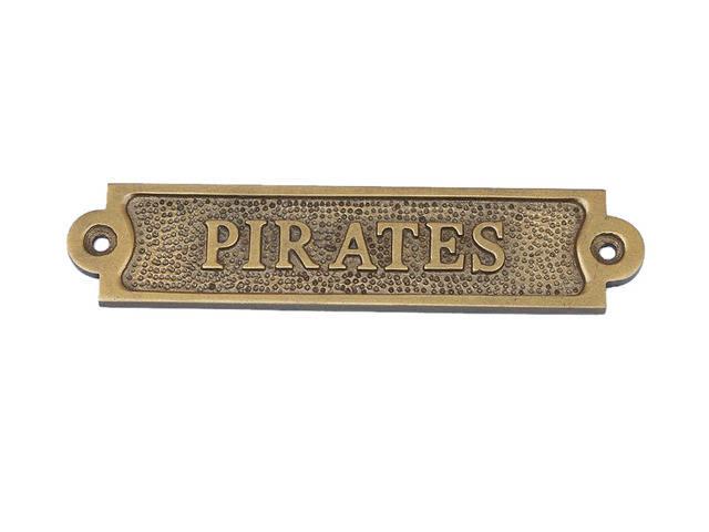 Antique Brass Pirates Sign  6