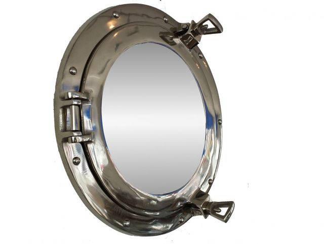 Chrome Decorative Ship Porthole Mirror 15
