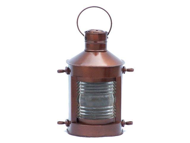 Antique Copper Masthead Oil Lamp 12