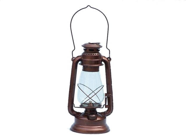 Antique Copper Hurricane Oil Lantern 19