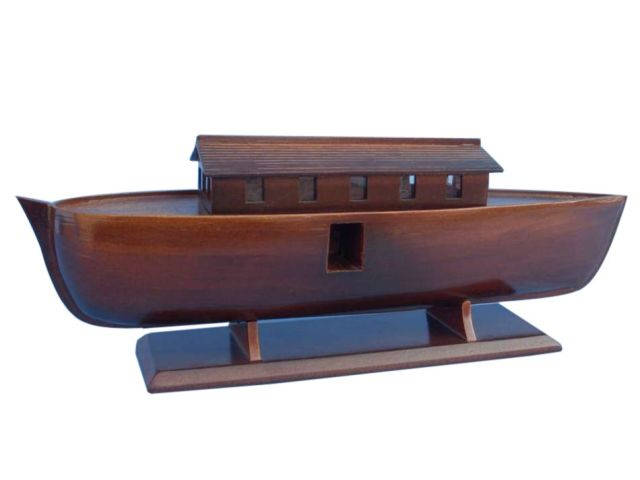 Wooden Noahs Ark Model Boat 14