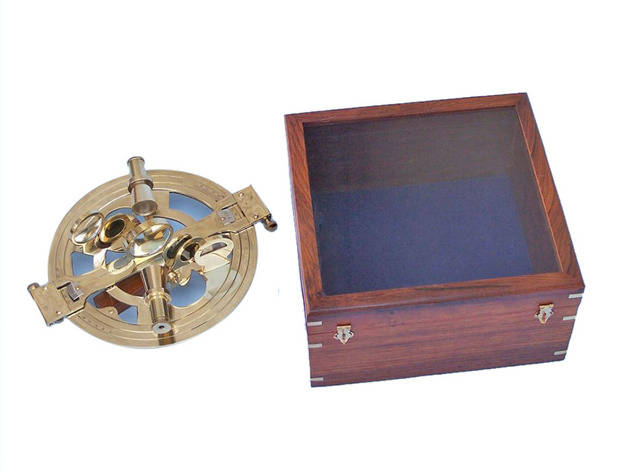 Round Sextant with Rosewood Box 10