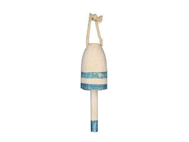 Wooden Vintage Light Blue Decorative Lobster Trap Buoy 7
