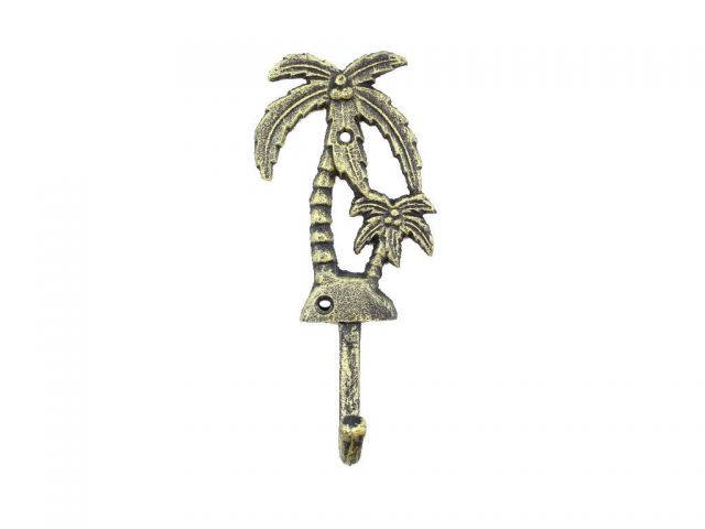 Rustic Gold Cast Iron Palm Tree Hook 7