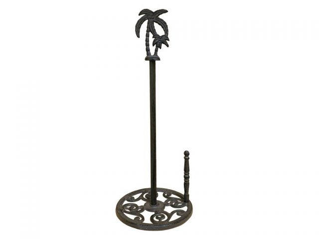 Cast Iron Palm Tree Paper Towel Holder 17