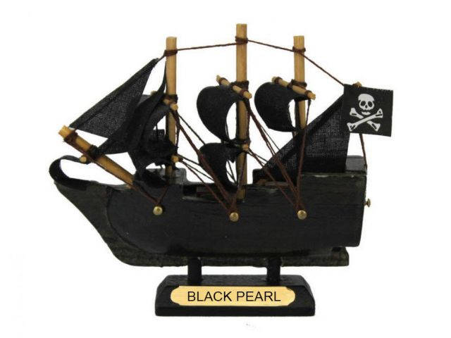 Black Pearl Pirates of the Caribbean Pirate Ship Model 4