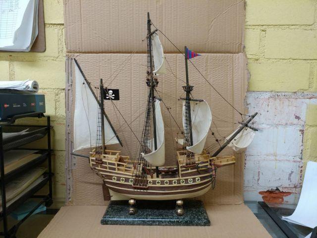 Wooden Caribbean Model Pirate Ship 20