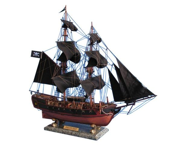 Wooden Caribbean Pirate Ship Model Limited 26 - Black Sails
