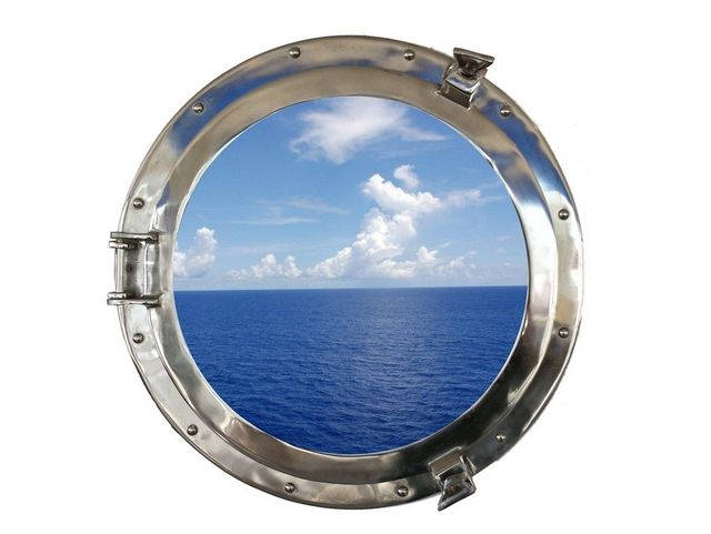 Chrome Decorative Ship Porthole Window 24