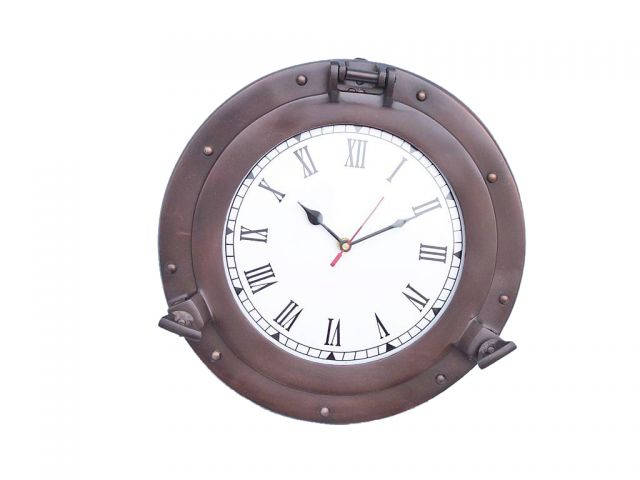 Bronze Decorative Ship Porthole Clock 12