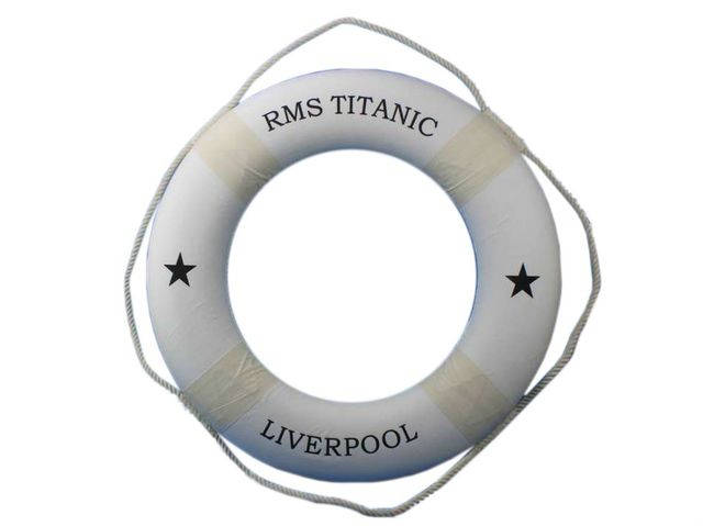RMS Titanic Decorative Lifering 30 - White
