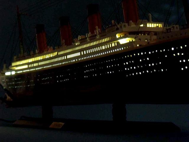 RMS Britannic Limited Model Cruise Ship 40 w- LED Lights