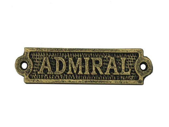 Antique Gold Cast Iron Admiral Sign 6
