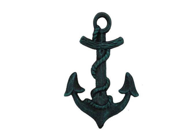 Seaworn Blue Cast Iron Anchor Hook 8