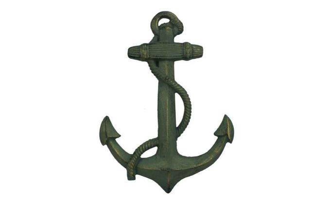 Antique Seaworn Bronze Cast Iron Anchor 17
