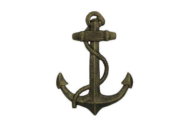 Antique Gold Cast Iron Anchor 17