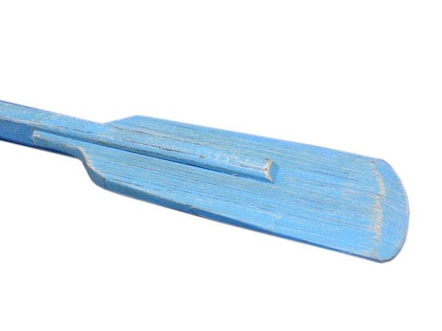 Wooden Rustic Laguna Lake Decorative Squared Boat Oar w- Hooks 36