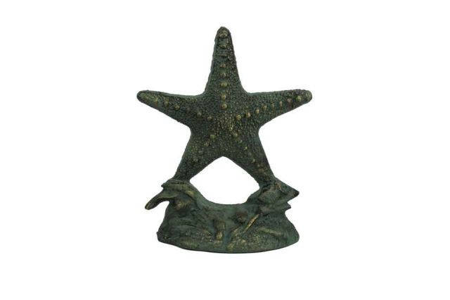 Antique Seaworn Bronze Cast Iron Starfish Door Stopper 11
