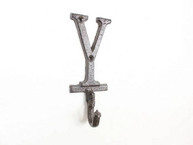 Cast Iron Letter Y Alphabet Wall Hook 6