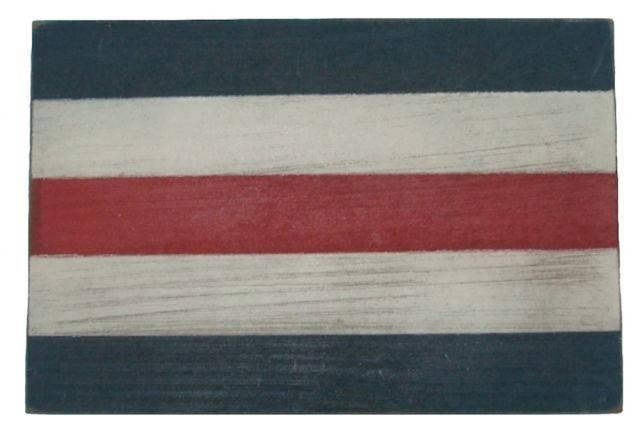 Letter C Rustic Wooden Nautical Alphabet Flag Decoration 16