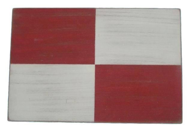 Letter U Rustic Wooden Nautical Alphabet Flag Decoration 16