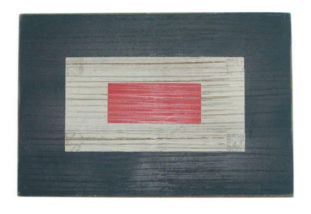 Letter W Rustic Wooden Nautical Alphabet Flag Decoration 16