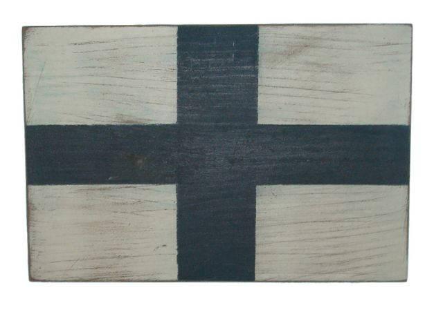 Letter X Rustic Wooden Nautical Alphabet Flag Decoration 16