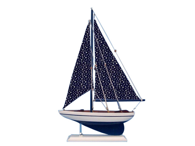 Wooden Star Sailer Model Sailboat Decoration 17