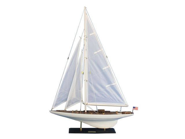 Wooden Intrepid Model Sailbaot Decoration 35