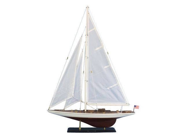Wooden Ranger Model Sailboat Decoration 35