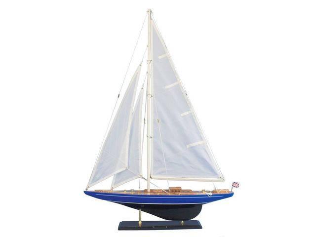 Wooden Velsheda Model Sailboat Decoration 35