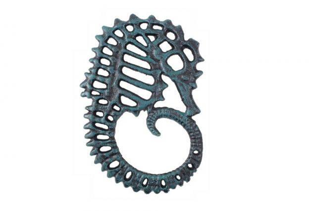 Seaworn Blue Cast Iron Seahorse Trivet 6
