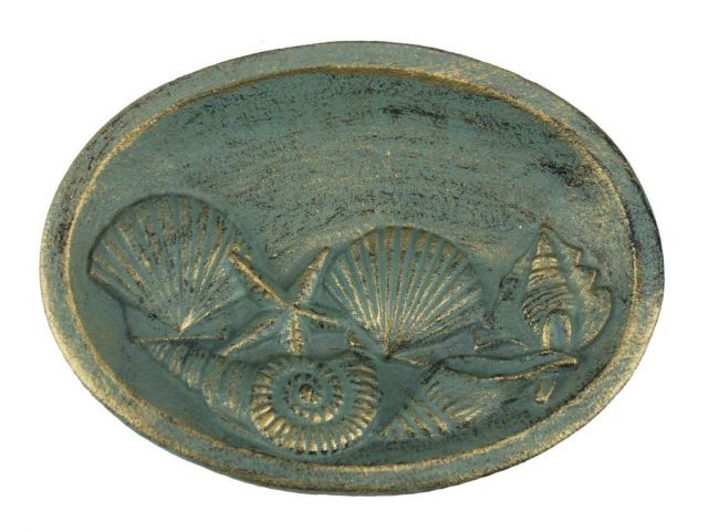 Seaworn Bronze Cast Iron Decorative Seashell Bowl 8