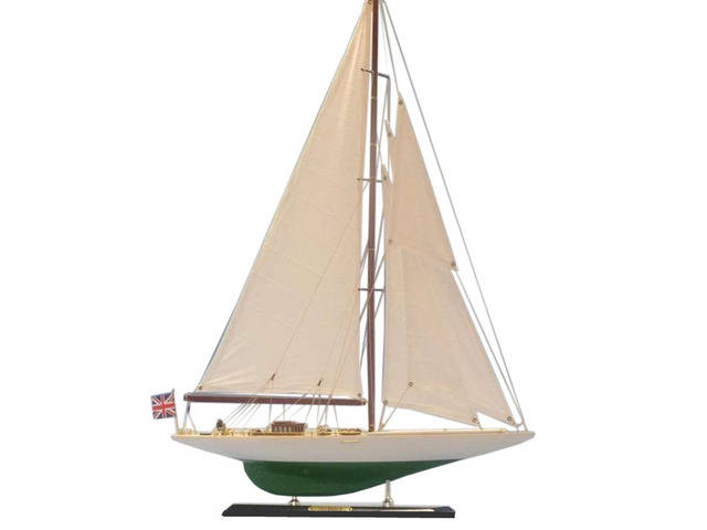 Wooden Shamrock Limited Model Sailboat 27