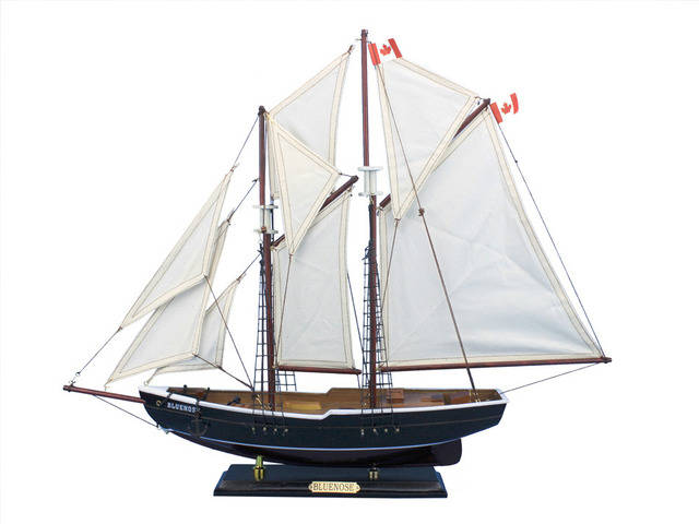 Wooden Bluenose Model Sailboat Decoration 24