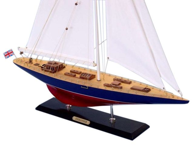 Wooden Endeavour Limited Model Sailboat Decoration 50